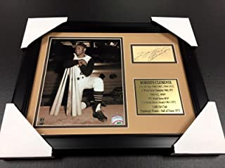 Roberto Clemente Signed Photo - Cut Facsimile Reprint Framed 8x10 - Autographed MLB Photos