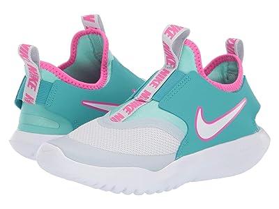 Nike Kids Flex Runner Aqua (Little Kid) (Pure Platinum/White/Cabana) Girls Shoes