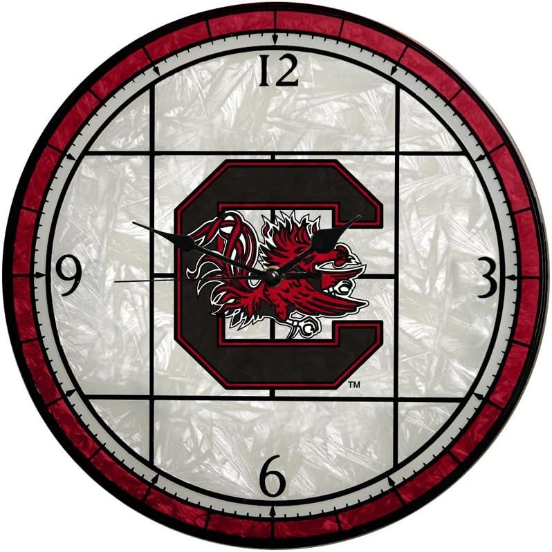 Memory Finally resale start Company South Carolina Gamecocks Art Glass 12in Direct stock discount Clock