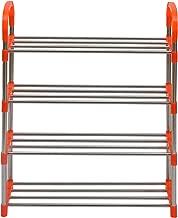 Nilkamal Proxima 4 Layer Iron Shoe Rack, Orange