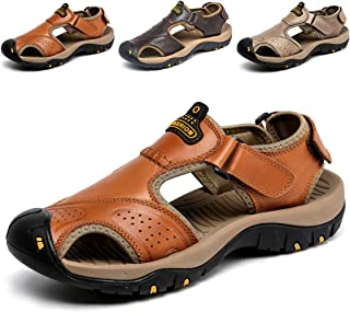 28fbf0266266 SONLLEIVOO Mens Sports Leather Sandals Outdoor Beach Water Sandal Fisherman  Athletics Shoes