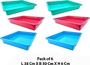 Little Monkey® Premium Plastic Rectangular Shape Multipurpose Organizer Plastic Tray Big Size L 38 cm X B 30 cm X H 6 cm M...