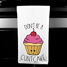 Rainbow Dont be a Cuntcake Funny Kitchen Tea Bar Towel Gift for Women