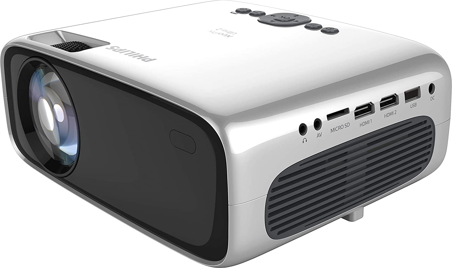 Philips NeoPix Ultra 2, True Full HD Projector with Apps and Built-in Media Player