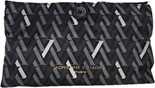 Adrienne Vittadini Travel Hanging Cosmetic Pouch Case, Black/Grey