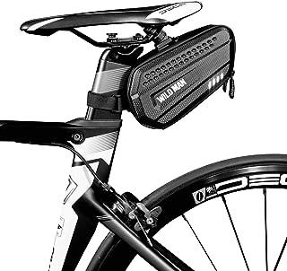 red bike saddle bag