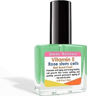 Jadole Naturals Nail Vitamin E with Rose Stem Cells, Strong Health Nail, Growth, Splitting & Peel Resist Protect Nail Kera...