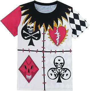 Funny World Men's Evil Poker Clown Costume T-Shirts