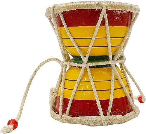 Maga Mart Indian Musical Instruments Damaru Meditation Kirtan Shiv Damroo Percussion