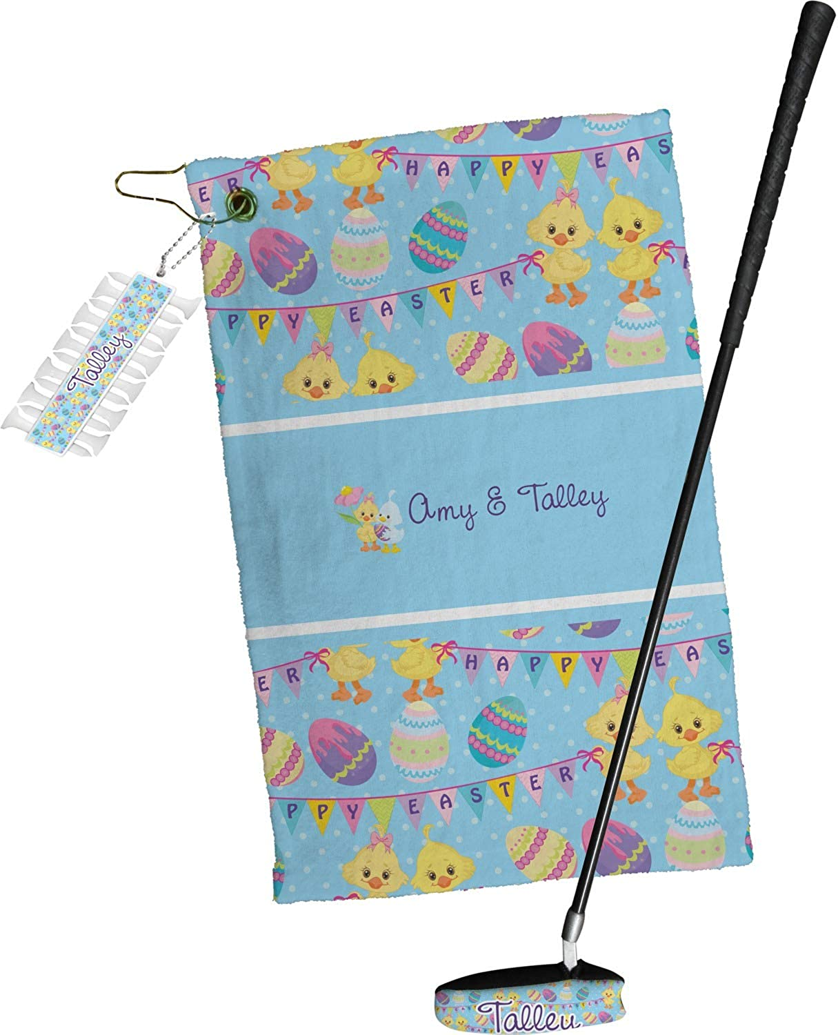 YouCustomizeIt Happy Easter Golf Towel Our shop OFFers the best service Personalized Import Set Gift