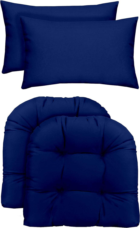 RSH Décor Indoor Outdoor wholesale - 2 Wicker Lum Super sale Chair Cushions U-Shape