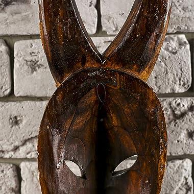 """AEVVV African Masks Buffalo Mask Home Decor Wood Carved African Buffalo Wall Hanging Safari Decor (Buffalo 20"""")"""