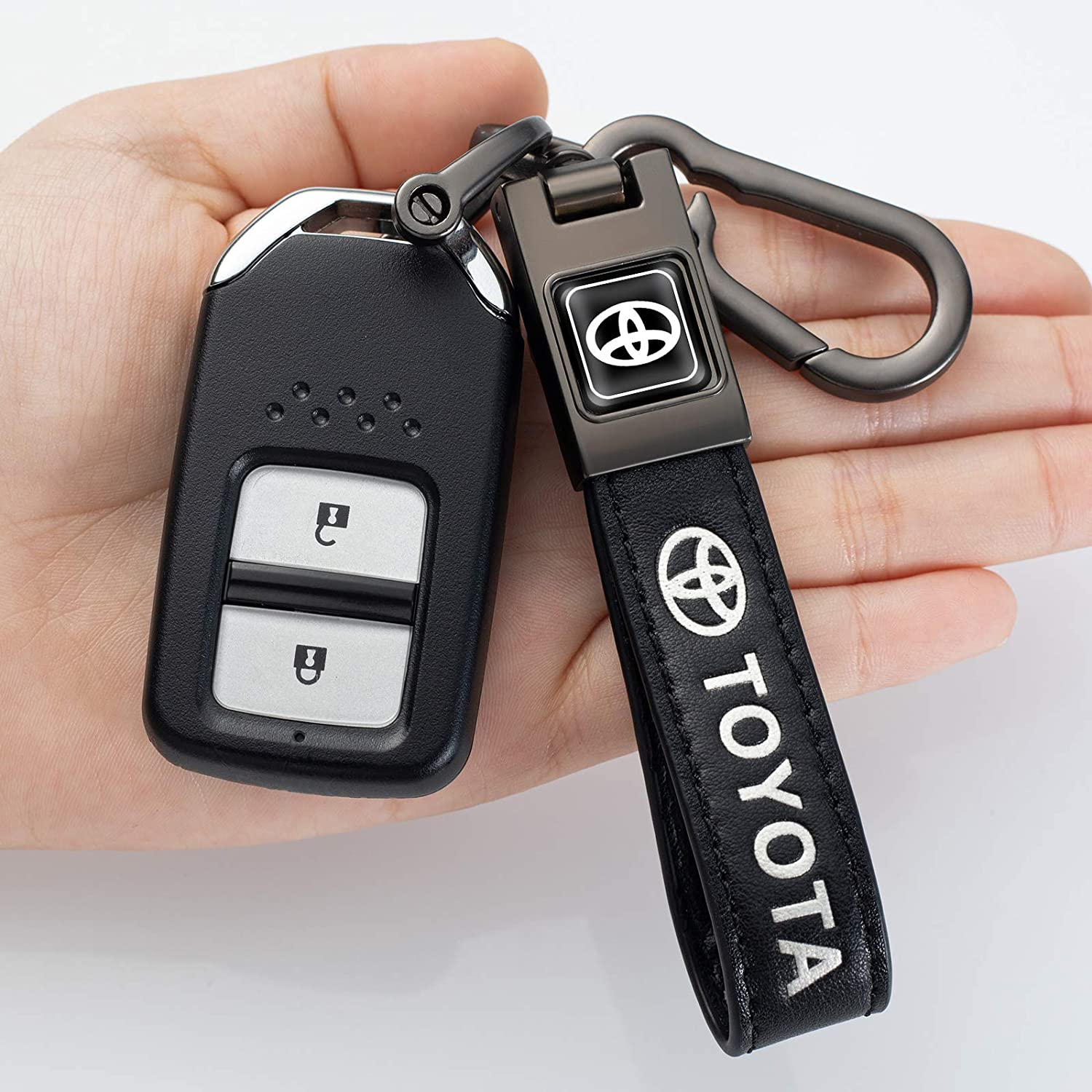 Suitable for Subaru Keychain Men/'s and Women/'s Gifts Birthday Gifts NOFEAR Leather car Logo Keychain Key Chain Key Ring Accessory Black-1pcs