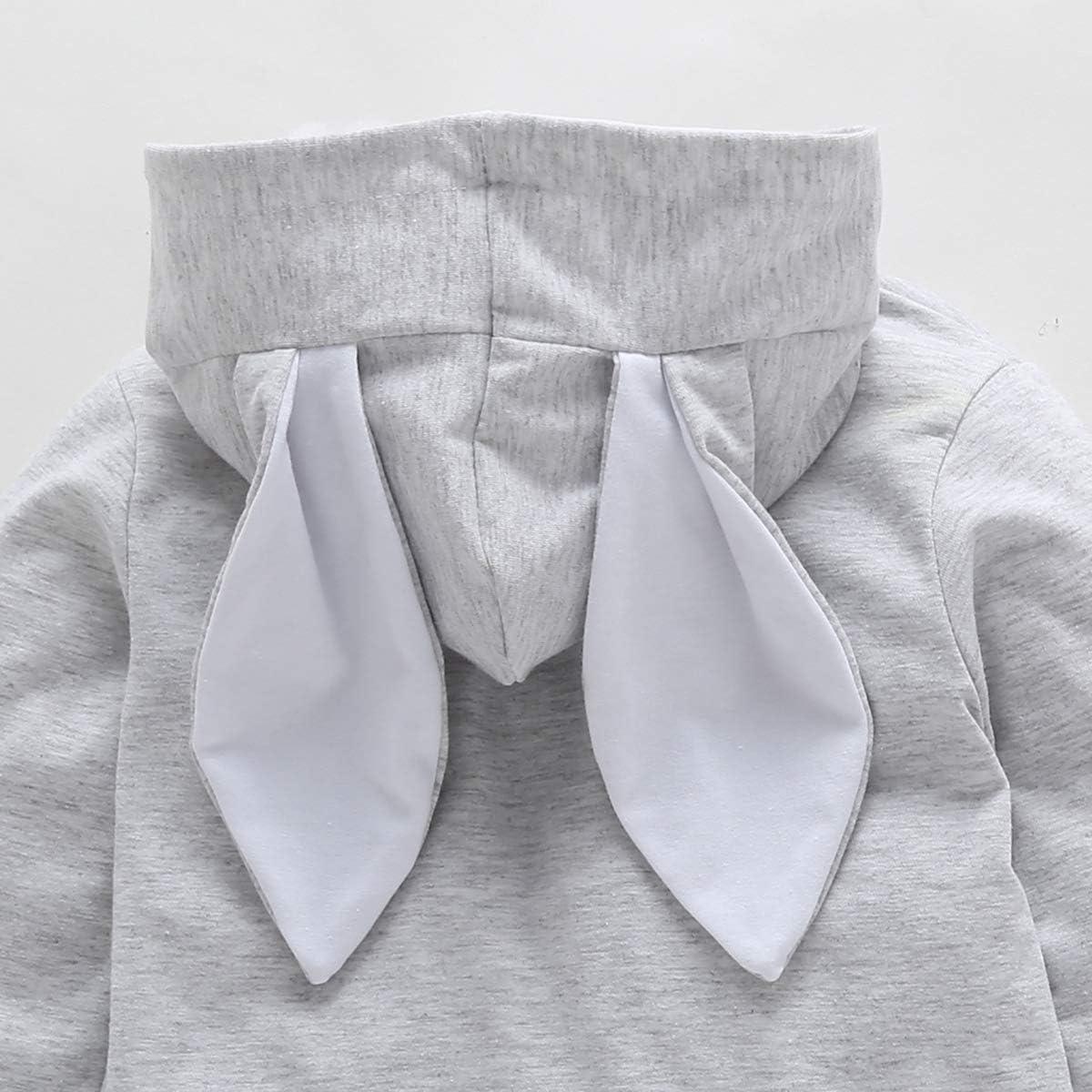 Borlai Sudadera con capucha para ni/ñas de 1 a 4 a/ños con orejas de conejo