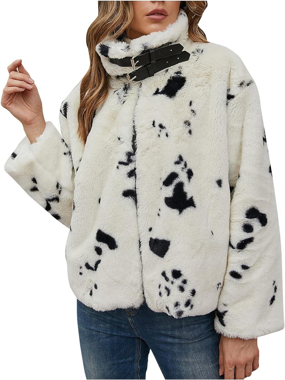 Winter Coats for Women Turn Collar Very popular! Luxury Fluffy S Faux Warm Fur Boston Mall