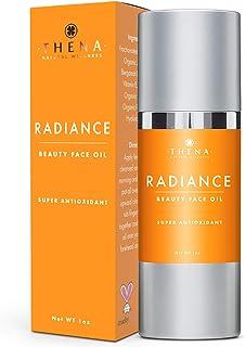 THENA Organic Facial Oil Anti Aging Face Oil Serum, Vegan & Natural Skin Care, Antioxidant Rosehip Oil Jojoba Oil Hyaluron...