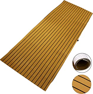 Happybuy EVA Foam Faux Teak Boat Decking Sheet 94.5