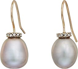 LAUREN Ralph Lauren - Oval Freshwater Pearl Drop Earrings