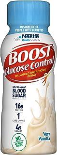 Boost Glucose Control Nutritional Drink, Vanilla Delight, 8 fl oz Bottle, Pack of 24