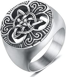 mens celtic signet rings