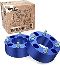 RockTrix - 2 inch ATV Wheel Spacers (4x110, 74mm Bore, 10x1.25 Studs Nuts) Compatible with Various Honda Yamaha Kawasaki Suzuki Bombardier (Read Listing for Year Model Info) UTV V1 50mm Blue 2pcs