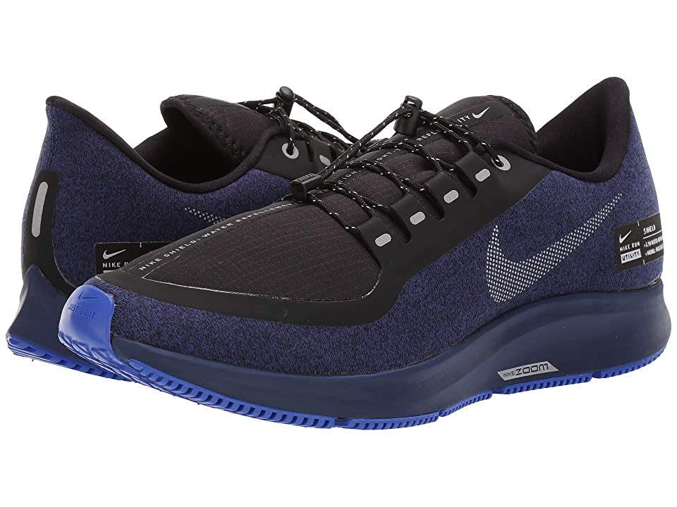 Nike Air Zoom Pegasus 35 Shield (Black/Metallic Silver/Blue Void) Men