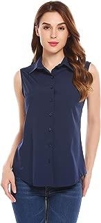 collared sleeveless blouse
