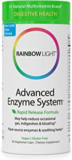 Rainbow Light - Advanced Enzyme System - Plant-Sourced Whole Food Enzyme Supplement, Supports Nutrient Absorption and Digestive Health; Vegan and Gluten-Free - 90 vCaps