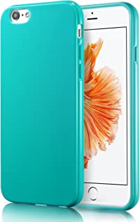 iPhone 6S Turquoise Case, technext020 Shockproof Ultra Slim Fit Silicone Green TPU Soft Gel Rubber Cover Shock Resistance Protective Back Bumper for iPhone 6 Turquoise
