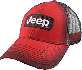 Jeep Red Mesh Back Cap