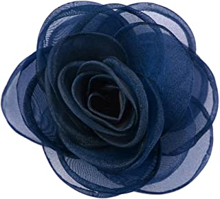 Merdia Women's Lovely Silk Flower Hair Clip Rose Brooches [Jewelry]