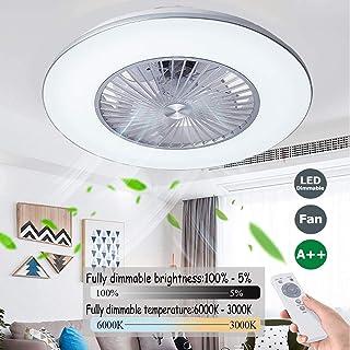 Ventilador De Techo Con Iluminación,Velocidad Del Viento Ajustable Regulable Control Remoto Silencioso Ventilador De Techo Con Luz LED 40W Infantil Habitación Ventilador De Techo 5 Aspas,60cm(c)