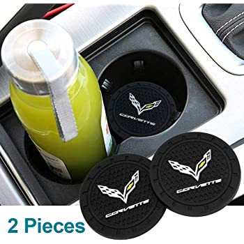 Jazzshion 2pcs 2.75 Vehicle Travel Auto Cup Holder Insert Coaster Mat for Audi All Models
