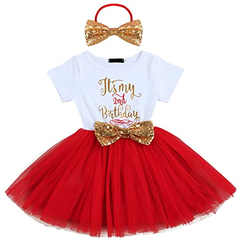 f13aa134 Newborn Baby Girl Princess It's My 1st/2nd Birthday Party Cake Smash Shinny  Sequin Bow