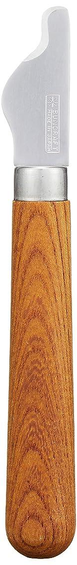 一般化する最大拒絶サンクラフト 果物 ナイフ 栗の皮むきナイフ フルーツ 皮むき 包丁 ステンレス 日本製 木柄 FS-06
