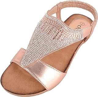 ABSOLUTE FOOTWEAR Womens Diamante Style Summer/Holiday Slip On Flip Flops/Sandals