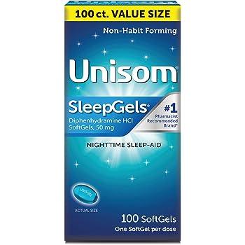 Unisom SleepGels, Nighttime Sleep-aid, Diphenhydramine HCI, 100 SoftGels