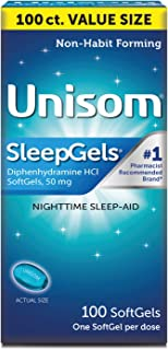 Sponsored Ad - Unisom SleepGels, Nighttime Sleep-aid, Diphenhydramine HCI, 100 SoftGels