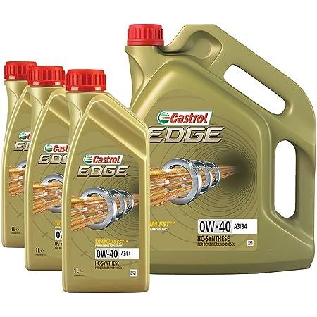 3x 1 L 1x 5 L 8 Liter Castrol Edge Fst 0w 40 A3 B4