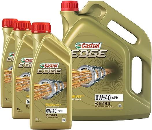 3x 1 L 1x 5 L 8 Liter Castrol Edge Fst 0w 40 A3 B4 Motor Öl Motoren Öl Spezifikationen Freigaben Sae 0w 40 Acea A3 B3 A3 B4 Api Sn Cf Vw 502 00 505 00 Bmw Longlife 01
