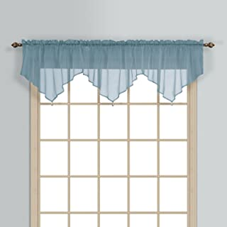 United Curtain Monte Carlo Valance, 40 X 22 Inch, Slate Blue