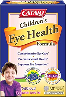 CATALO Children's Eye Health Formula - Vision Support with European Bilberry Extracts, Eyebright Extracts, ...