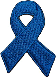 Arthritis/Colon/Prostate Cancer Awareness Victim Rights/Free Speech/Domestic Violence Ribbon Embroidered Sew/Iron On Patch 2.5