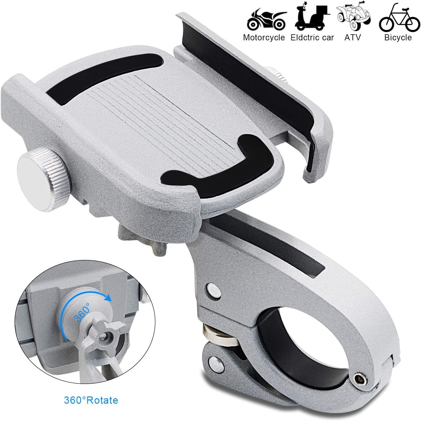 Bicycle Aluminum Alloy Mobile Phone Holder Bracket For Motorcycle Bike Bicycle