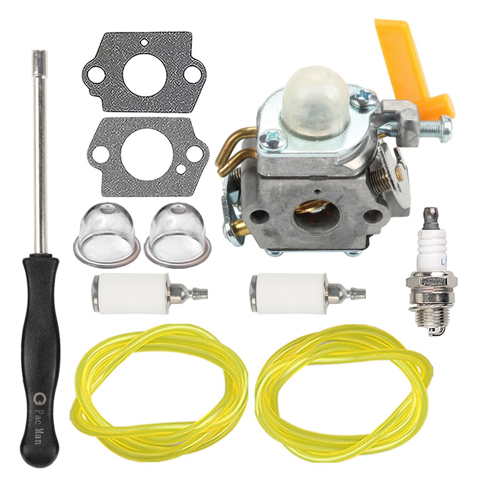 homelite 26cc parts amazon com Poulan Pro Weed Eater Fuel Line Replacement hipa 308054013 carburetor with fuel line filter spark plug for ryobi homelite 308054012 308054004 308054008 25cc