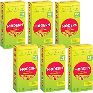 Modern Table Classic Cheddar Vegan Mac & Cheese, Complete Protein, 5.89 oz, 6 Count