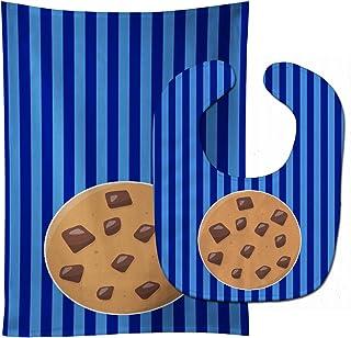 "Caroline's Treasures BB6820STBU Cookie Monster Baby Bib & Burp Cloth, 11 x 18"", multicolor"