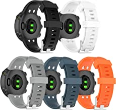 Compatible with Garmin Forerunner 45 Bands Women Men Forerunner 45S Wristband, Silicone Replacement Fitness Strap Watch Ba...