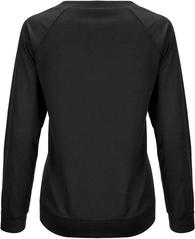Crewneck Sweatshirt Women,Casual Long Sleeve Pullover Christmas Shirt Tops