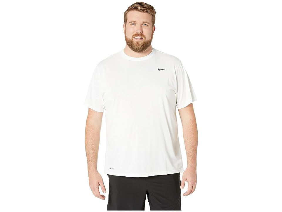 Nike Big Tall Legend 2.0 Short Sleeve Tee (White/Black/Black) Men